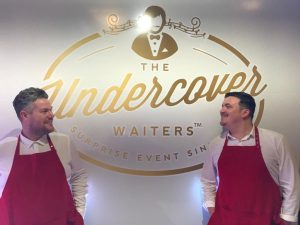 On stage with The Undercover Waiters